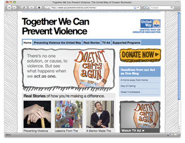 United Way YouPreventViolence.com Website